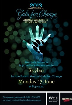 Fidus News - Animals Lebanon 2013 Gala diner